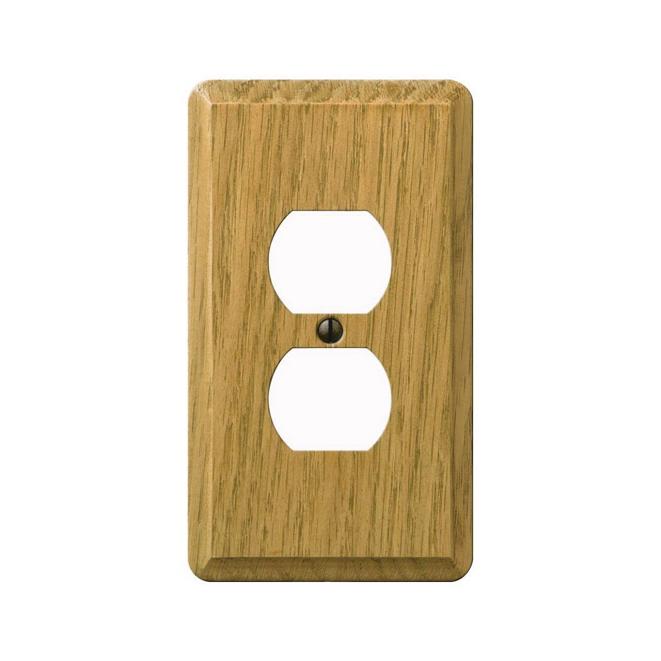Jackson Deerfield 901DL Contemporary Wall Plate - Light Oak, 2 Outlet