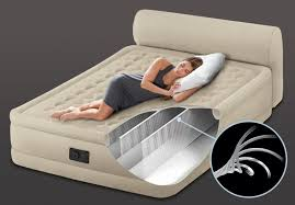 Aerobed Queen Air Bed With Headboard by 31in Queen Dura Beam Headboard Airbed With Built In Electric Pump