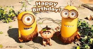 Happy Birthday from Minions animated GIF