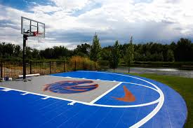 Bryan Harsin's Backyard Court | Bosie Blue And Orange Court Home Basketball Court Design Outdoor Backyard Courts In Unique Gallery Sport Plans With House Design And Plans How To A Gym Columbus Ohio Backyards Trendy Photo On Awesome Romantic Housens Basement Garagen Sketball Court Pinteres Half With Custom Logo Built By Deshayes