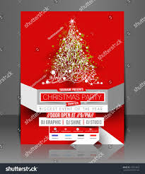 Christmas Tree Shop Flyer by Christmas Party Flyer Poster Template Stock Vector 162510473