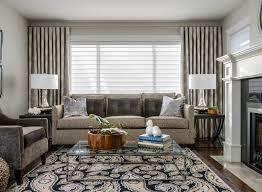 interior design modern light white and gray living room curtain
