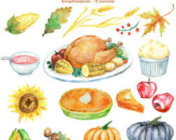 Watercolor Thanksgiving Day Clipart