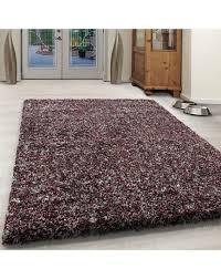 wohnzimmer shaggy teppich hochwertig hochflor rot weiß grau meliert farbe rot größe 60x110 cm