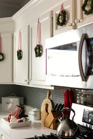 Red White Christmas Decor In The Kitchen