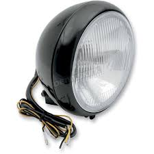 Harley Davidson Light Bulb Cross Reference by Drag Specialties Black 7 In Headlight Assembly 2001 0556 Harley
