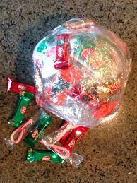 Saran Wrap Christmas Tree by Time Of Our Lives Christmas Taped Candy Treat Ball