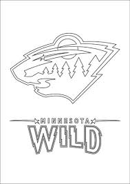 Click To See Printable Version Of Minnesota Wild Logo Coloring Page