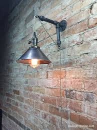 industrial style sconce pendant l metal shade edison