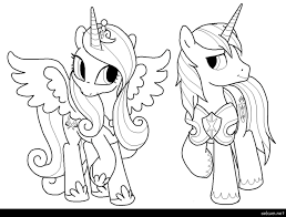 Coloring Pages Princess Cadence Fresh My Little Pony And Shining Armor