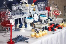 nautical baby shower table decorations