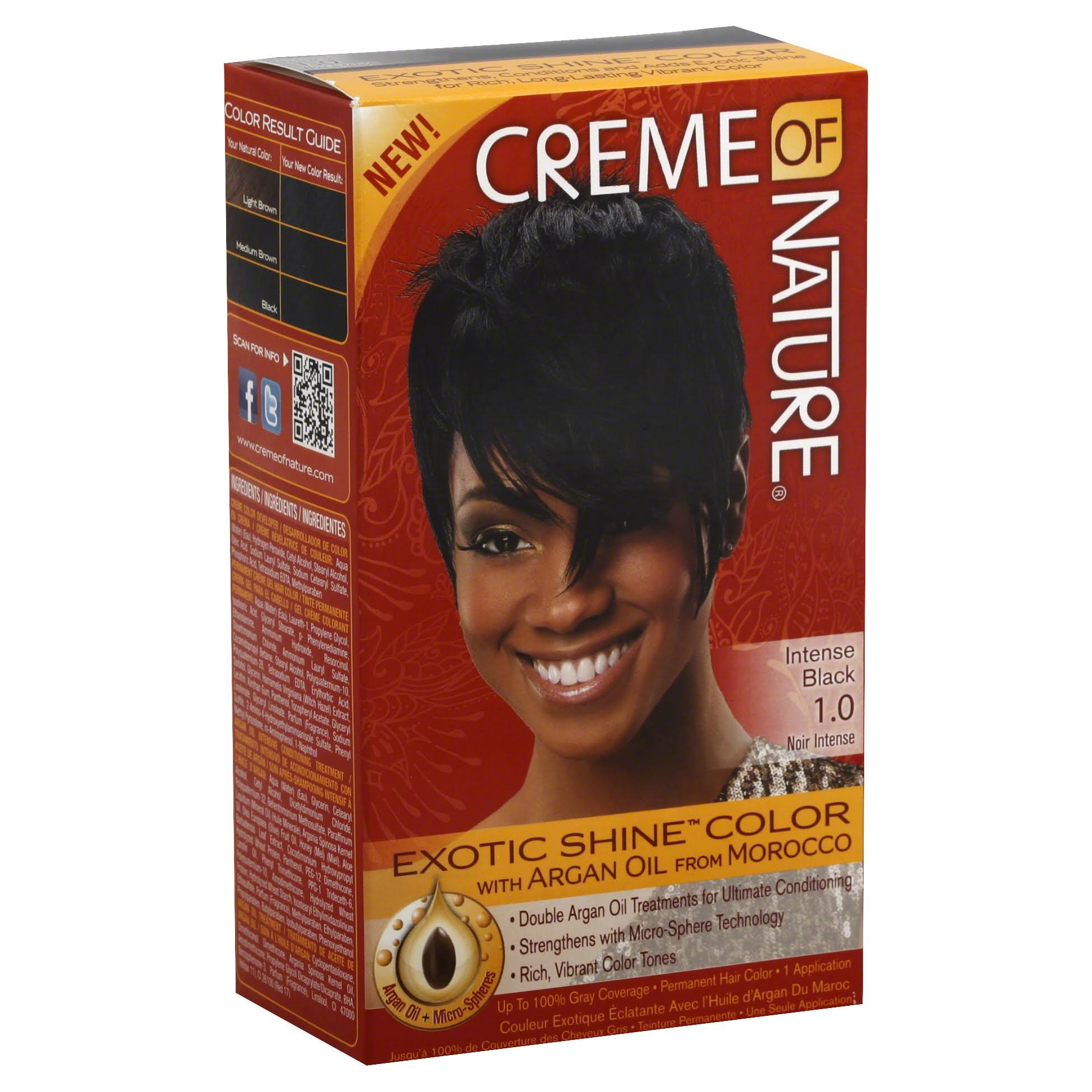 Creme of Nature Exotic Shine Color Permanent Hair Color - Intense Black 1.0