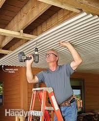 Cheap Diy Basement Ceiling Ideas by Best 25 Patio Ceiling Ideas Ideas On Pinterest Under Deck