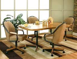 Swivel Dining Room Chairs With Casters Modern Computer Desk