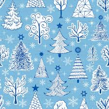 Seamless Hand Drawn Christmas Trees Pattern Vector Image Of