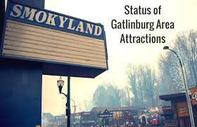 Gatlinburg Chair Lift Fire by Status Of Roadside Attractions After Wildfires Strike Gatlinburg