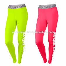 neon color ladies dry fit gym pant custom printing compression