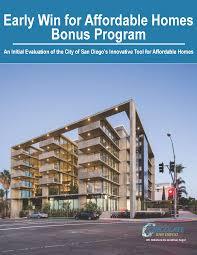 100 Jonathan Segal San Diego REPORT Early Success For Affordable Homes Bonus Program