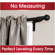 Kenney Manufacturing Curtain Rods Instructions by Smart Rods Easy Install Cafe Curtain Rod Ball Finial Walmart Com