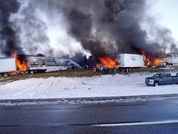 100 Wyoming Trucks And Cars Dozens Of Vehicles Collide In Deadly Fiery PileUp On Snowy
