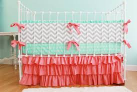 Arrow Crib Bedding by Bedding Set Commendable Mint And Gray Arrow Baby Bedding