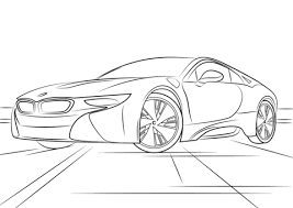 Click To See Printable Version Of BMW I8 Coloring Page