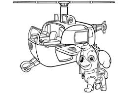 Click To See Printable Version Of Paw Patrol Skyes Helicopter Coloring Page