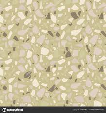 Terrazzo Seamless Pattern Tile Pebbles Stone Abstract Texture Background Wrapping Stock Vector
