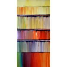 ABSTRACT ORIGINAL Painting Large Vertical 24X48 Modern Wall Art By Thomas John