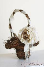 Morgann Hill Designs Rustic Flower Girl Basket Wedding