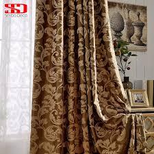 luxus vorhänge für wohnzimmer grau vorhänge schlafzimmer jacquard jalousien stoff europäischen fenster behandlungen hohe shading 80 panels