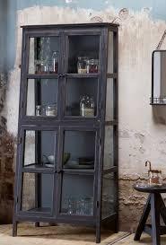 vitrine schrank heritage vintage holz glas vintage holz