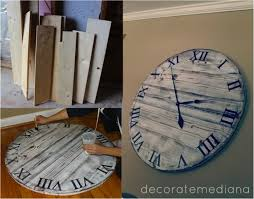DIY Giant Pottery Barn Wall Clock for $10 Do It Yourself Fun Ideas