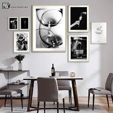 kaffee wein brot küche poster schwarz weiß trinken