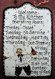 7x11 Fat Chef Kitchen Operating Hours Sign Cucino Bistro Italian Decor Plaque