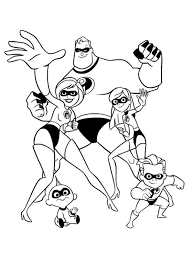 Holiday Coloring Pages Disney Infinity Mr Incredible