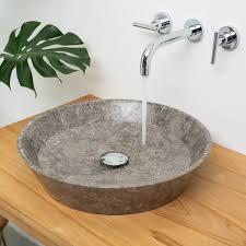 marmor waschbecken 45 cm schmal zulaufend grau kaufen