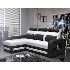 canapé noir et blanc convertible canapé d angle transformable en lit design