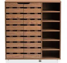 Baxton Shoe Storage Cabinet by Modern Shoe Storage Bench Modern Entryway Shoe Bench Germania Oslo