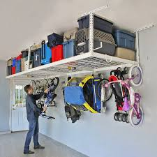 saferacks overhead garage storage combo kit two 4 ft x 8 ft