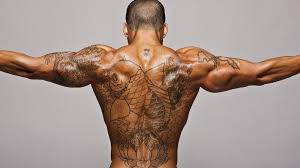Fish Tattoo On Back TB1067 Category African Tattoos