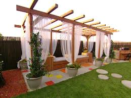 Vinyl Patio Curtains Outdoor by Build A Pergola For A Deck Or Patio Hgtv