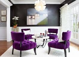 غرفة المعيشة باللون الأرجواني 79 فكرة الديكور كبيرة