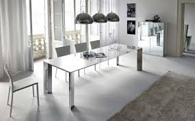 Curtain A Modern Dining Room Ideas In White With Intended For