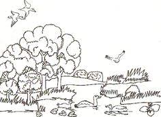Image Result For Printable Scenery Landscape Free Animal Coloring PagesNature