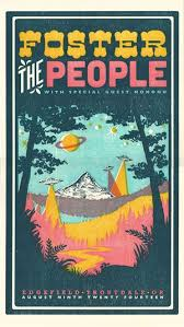 Foster The People 4 Color Letterpress Show Poster Collaboration With Adrienne Miller