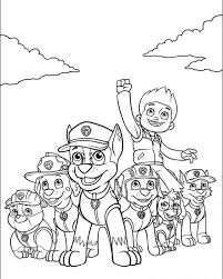 Ryder With His Team Of Paw Patrol Pups Top 10 PAW Coloring Pages