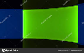 News Studio The For Any Green Screen Chromakey Production Blue And Background Wall 3d 3D Rendering Photo By Vachom