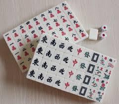 M004 22mm Mini Mahjong Mah jong Mah jongg Mah jong Games Carved