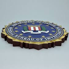 of justice federal bureau of investigation wooden wall plaque